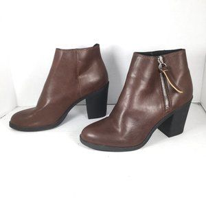 H & M Divided Heeled Ankle Boots Brown Size 7
